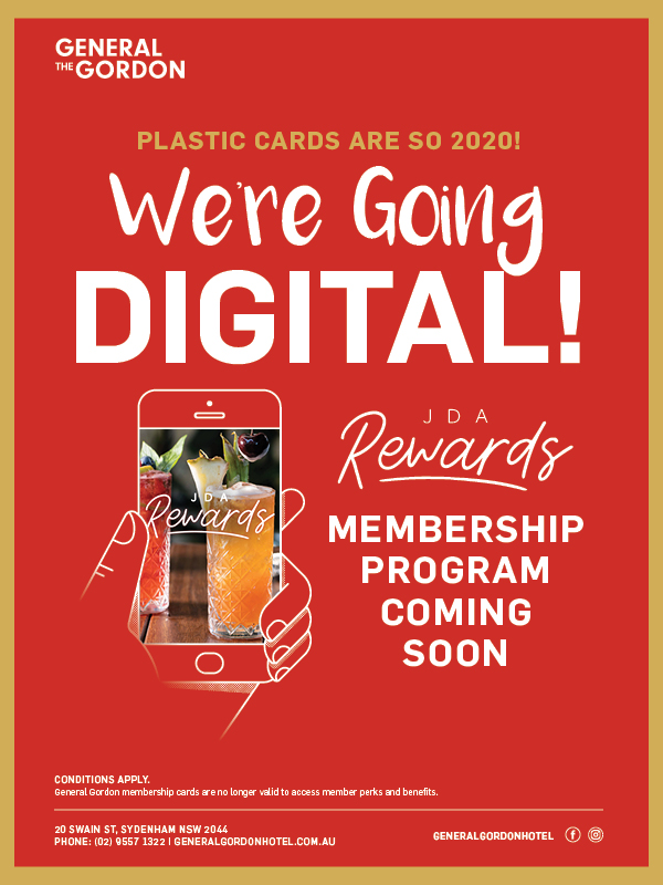 Digital Membership Rewards Program - General Gordon Hotel