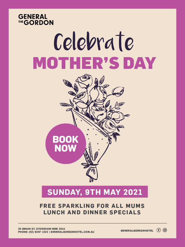 Mothers Day Lunch & Dinner Specials - General Gordon Hotel